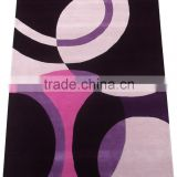 Trusted Supplier of Handmade Silk Cut Pile Purple/ Multi Wool Viscose Carpet