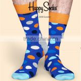 Custom Different Style Colorful Dotted Socks,Mens crew socks,happy dotted dress socks