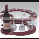 wine bottle and cup holder