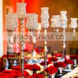 Hot sale. Crystal votive candelabra, Tall candelabra centerpiece for wedding with crystal votive