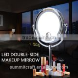 Professional led double sided makeup mirror with led light