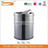 Novelty stainless steel swing top trash can