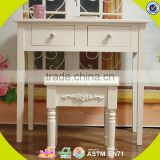 2017 New design wooden girls table and chairs, high quality room furniture wooden girls table and chairs W08G188