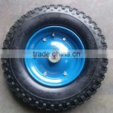 "6 inch pneumatic rubber wheel 6""*2"" for hand trolley"