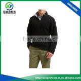 Popular style OEM custom black color polar fleece pullover jacket / sweatshirt hoodie for men