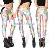 2014 digital printing cartoon Snow White Star Leggings pantyhose female black milk