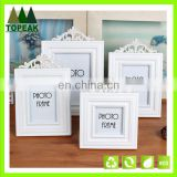 Retro European white simple wooden frames designs / wooden picture frame /Carved hollow frame wedding love photo frames