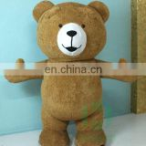 Factory custom make inflatable mascot costume bear mascot costume plush bear mascot costume for sale