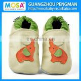 Infant Cow Leather Soft Sole Shoes Beige Color Red Elephant Loafers Size 0-4 Years