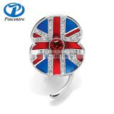 Wholesale Enamel Buckley Crystal Poppy Flower Brooch