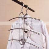 multifunctional fishbone hanger, good quality stainless steel scarf pants hanger