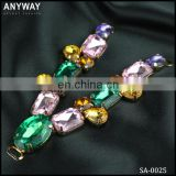 Blingbling crystal stone with clasp rhinestone buckles for dresses decoration