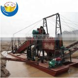 Professional Submersible Bucket Chain Gold Mining Dredge for sale