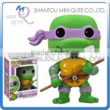 Mini Qute Funko Pop Amine Ninja Turtle Donatello super hero action figures cartoon models educational toy NO.FP 60