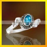 classic and fashion 925 silver class ring with CZ for girls, 3D design ring