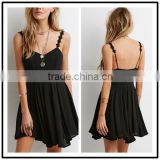 2015 china manufacturer customized the latest design slim floral crochet cami strap dress