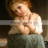 Factory price talented artists special art work beautiful lovely girl handmade oil painting