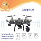 Mini Tudou GPS Voice Controlled APP Wifi FPV RC Drone with HD Camera Follow Me Function Quadcopter Controlled by Watch