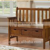 S-1863 Hallway Shoe Bench Storage Stool Solid Wood Shoe Stool