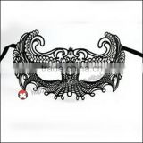 porcelain Luxury Black elegant Metal Laser Cut Venetian Mask Innovation Rhinestones
