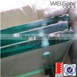 12mm thick ultra clear Toughened Glass with hole, low iron toughened glass(AS/NZS2208:1996 )