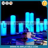 Attractive christmas stage show decoration inflatable pillar with led lighting