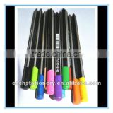 12colors triangle shape japanese plastic stripe color pencils wholesale with tip top