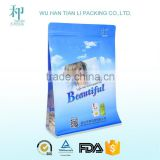 wholesale new products OEM factory printed clear plastic zip lock bags with square bottom