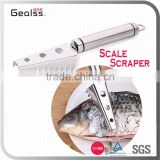 Strong Grip Stainless Steel Fish Scale Scraper Remover for Fast Kitchen Food Prep