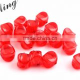 Christmas Red Color Bulk Price Chunky Foursquare Acrylic Transparent Clear Plastic Beads in Beads for Jewelry Decorative Making