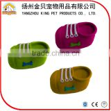 Factory promotional small color rubber shoe toy squishy dog gift