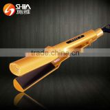 Professional five teeth and flat iron titanium plate digital LED hair straightener manufacturer in china SY-9908
