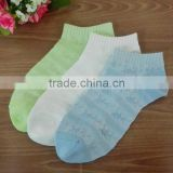 blank color pure cotton invisible ankle socks for girls and women
