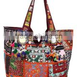 Bollywood designer banjara handbags-Patchwork Tote bags,Ethnic Indian bags,Tribal Designer banjara bags,Boho old sari fabric ban