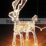 led firework lights LED magic colour christmas lights for outdoor project/LED 3D motif christmas deer snowman