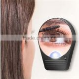 Adjustable bathroom suction cup wall mirror with light bulbs and magnification / battery lighted bathroom makeup mirror