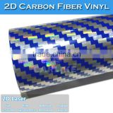 SINO Factory Price Laser 2D Carbon Fiber Vinyl Cover Car Hood Sticker