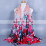 Korea Fashion Flower Printed Cotton Scarf For Women (EL1362)                                                                         Quality Choice