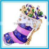 New style christmas stocking brooch to wedding dress custom made brooches