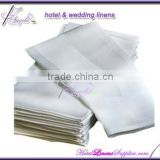 "100% cotton napkins with satin band, plain cotton napkins, white, 22""*22""(56*56cm)"