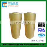 Chinese manufactuer directly supply soft and transparent food packaging plastic roll film