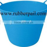 PE garden bucket,plastic flexible bucket,baby bathing tub,REACH