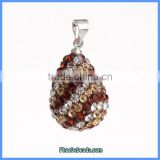Wholesale Multicolor Stripe Rhinestone Waterdrop Design Pendant For Making Jewelry CPP-WD02F