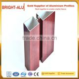 Low price metal sublimation decorative laminated aluminium extrusion curtain wall bracket profile