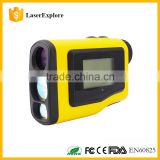 New Yellow color LCD Golf caddy 6x21 600m OEM Laser Golf Rangefinder with Slope and Pinseeker