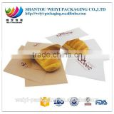 kraft paper french baguette bread plastic bag food packaging bags/bread bag