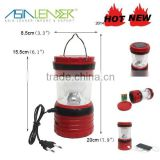 6LED Professiona Solar Rechargeable Camping Lanterns with USB phone charger