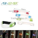 3 Light Modes 100% Brightness Fast Flash and Slow Flash Safety Reflective Belt Arm Strap Night Running LED Armband Lights
