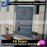 Acrylic transparent T table frame Advertising display card Crystal paper strong magnetic card table tablet stands