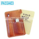 Genuine Leather case for Field Notes or Moleskine with Pen/Knife/Card holder                                                                         Quality Choice